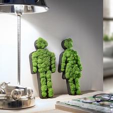 Pictogrammes de mousse Femme/Homme - Un très bel objet déco pour la maison ou à offrir. 100 % naturel, 0 % d'entretien.