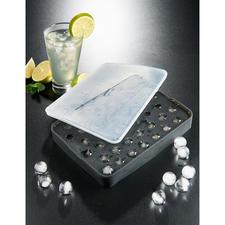 Bac à billes de glaçons - Des perles de glace étincelantes faciles à réaliser, préparées dans un moule flexible en silicone platine.