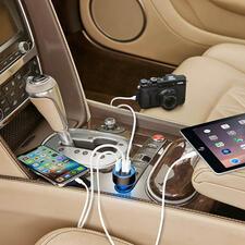 Chargeur USB haute vitesse à 3 ports - Le chargeur voiture haute vitesse nouvelle génération : jusqu'à 4 fois plus rapide.