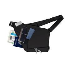 Quatre compartiments rembourrés à la coupe spécialement étudiée offrent de la place pour trois appareils nomades, portefeuille, lunettes, clés, chargeur…
