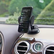Support universel 2-en-1 Supergrip - Plus sûr, plus simple : un astucieux support, pour placer le GPS ou le téléphone portable loin du pare-brise.