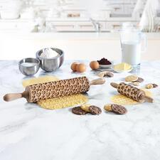 Rouleau à motif 3D,format standard ou format junior - Décorer biscuits et gâteaux en un tour de main : un jeu d'enfant !