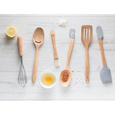 Fouet & presse-agrume, écumoire & séparateur de jaune d'oeuf, pinceau de pâtisserie & fourchette, cuillère 3-en-1, spatule & pince et maryse & spatule