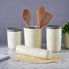 Écumoire & séparateur de jaune d'oeuf, fouet & presse-agrume, cuillère 3-en-1 et Spatule & Pince