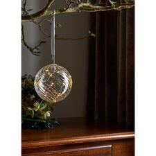 Boule en verre avec micro-LED - Une lumière magique de la finesse d'une poussière d'étoiles, le tout emprisonné dans du verre teinté.