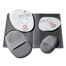 L'étui pratique permet de ranger 10 coussinets ponceurs de chaque taille et 2 gants.