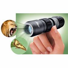 Mini monoculaire Luger - Qualité de Luger. Grossissement x 5-15, aussi à proximité jusqu'à 30 cm.