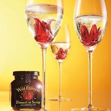 « Fleur d'hibiscus sauvage » dans leur sirop, lot de 2 - Etonnez vos convives avec le cocktail le plus en vue des bars branchés.