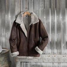 Blouson d'aviateur en fourrure d'agneau « B3 » - Une légende : le célèbre B3, le blouson d'aviateur de l'armée américaine US Army Air Corps, depuis 1934.