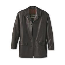 Veste en cuir d'élan - Une belle veste dont on ne se lasse jamais, en rare cuir d'élan. Une pièce unique souple et douce.