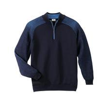 Pull Stereo-System® - Le pull qui tient chaud et ne gratte pas. De la laine mérinos à l'extérieur, du pur coton à l'intérieur.