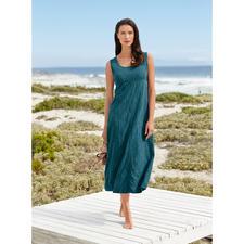 Robe soie crash brodée - Une robe d'été en pure soie. Mais extrêmement simple.