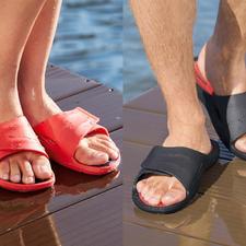 Sandales de bain pour homme ou femme Aquafeel de Fashy - Antidérapantes sur les surfaces humides. Antibactériennes contre la mycose du pied.