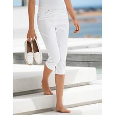 Corsaire confort de Raphaela by Brax, Blanc - Enfin un jegging confortable pouvant également être porté avec des hauts courts.