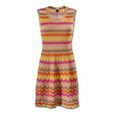 Robe maille vagues M Missoni, couleur bonbons - La fameuse maille à motif vagues de M Missoni aux couleurs estivales actuelles.