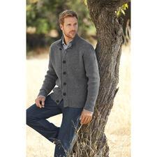 Veste raglan en tricot Fisherman - Style rustique, réinterprété au goût du jour. Avec empiècement épaules intégré. Par Fisherman out of Ireland.