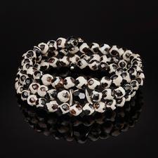 Bracelet en agate du Tibet langani - Le bracelet de pierres précieuses en agate du Tibet : chaque perle est unique.