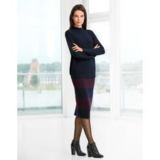 Pull-over surdimensionné ou Jupe crayon en tricot - Un ensemble épuré élégant en pure laine mérinos.