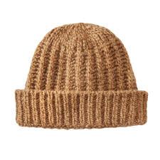 Bonnet en poil de chameau Fisherman - Le rare luxe du poil de chameau pur. Très doux. Réchauffant. Teinte naturelle. Pour homme et femme.