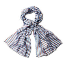 Foulard rayé 50 g alpi - Tissu italien délicat. Noble chatoiement. Choix de couleurs harmonieux. Par alpi.