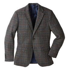 Veston à motif Prince-de- Galles German Tweed® - Motif Prince-de-Galles classique, couleurs urbaines, tissu léger, souple et doux.