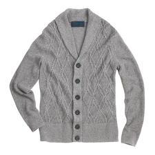 Cardigan estival Aran Carbery - Tricot Aran estival. Le cardigan aéré en coton et lin – fabriqué en Irlande par Carbery.