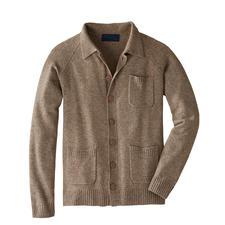 Cardigan noble Carbery - De la fine laine de yak, du cachemire et un tricot irlandais rendent ce cardigan si spécial.