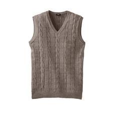 Débardeur torsadé Inca - L'élégant débardeur torsadé en bébé alpaga et coton Pima. Du spécialiste du tricot Clark Ross.
