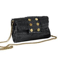Clutch Kooreloo - Le sac haute couture de la nouvelle marque Kooreloo : tissé à la main, en cuir et coton.