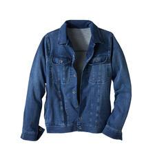 Veste en jean et jersey - La veste en jean classique – enfin aussi confortable que votre cardigan préféré.