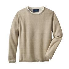 Pull climatique en lin Carbery - Doublement aéré : un tricot en pur lin avec pores climatiques supplémentaires. De Carbery.