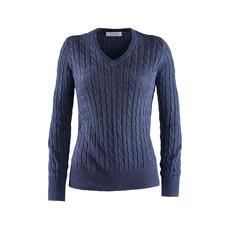 Pullover tressé en lin Carbery - Tricoté à partir d'un lin aéré : le pullover tressé au style estival. Fabriqué en Irlande. De Carbery.