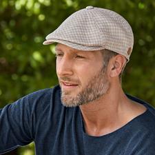 Casquette plate en lin et chanvre - La rare casquette plate en lin rafraîchissant et chanvre indéchirable.