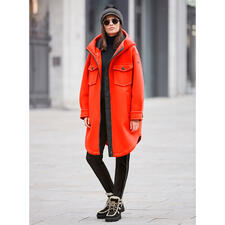 Parka couture-sport Goldbergh, orange - Streetwear sportif ou sportswear stylé ? Les deux à la fois ! Par Goldbergh.