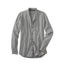 Chemise à col montant Hannes Roether - Chaude grâce à une touche de laine. Variable grâce au col rabattable. Par Hannes Roether.