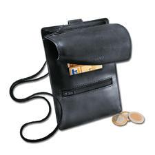 La pochette tour de cou en cuir - Plus qu'une simple pochette tour de cou.