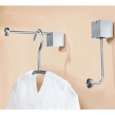 """Patère design """"pinup"""" ou """"pinup duo"""" - Élégante patère se transforme en un tour de main en une longue tringle de penderie. Aussi comme double patère."""