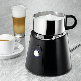 Mousseur à lait à induction Préparez du lait froid ou chaud à la consistance parfaite. En quelques secondes. Nettoyage lave-vaisselle.