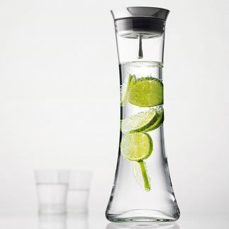 Carafe à bouchon automatique Un design scandinave pour servir l'eau de table avec style. Avec bouchon en inox et système de retenue.