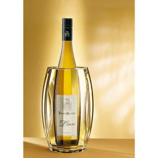 Rafraîchisseur double paroi à facettes Vin, champagne, eau de table: vos boissons préalablement refroidies gardent leur température pendant 3 heures.