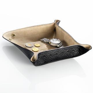 Le vide-poches, Cerruti 1881 De Cerruti 1881 : un vide-poches esthétique et pratique en cuir fin. Idéal aussi pour les voyages.