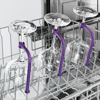 Tiges pour verres spécial lave-vaisselle, lot de 8 Lavez enfin vos verres à vin à pied haut au lave-vaisselle.