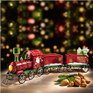 Petit train du Père Noël Une ravissante décoration et la plus belle des façons d'offrir des cadeaux.