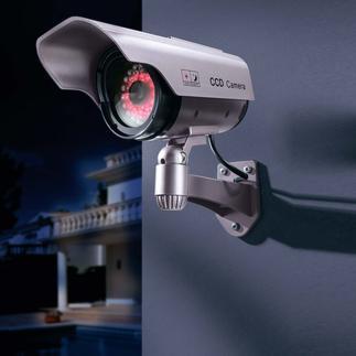Caméra factice avec couronne de DEL IR Des « caméras » pour surveiller votre maison et votre jardin encore plus efficacement.