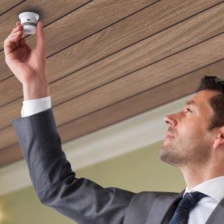 Détecteur de fumée ou de chaleur Invisible '10 ans' Durée de vie de 10 ans sans changement de pile. Technologie vitale en miniature.