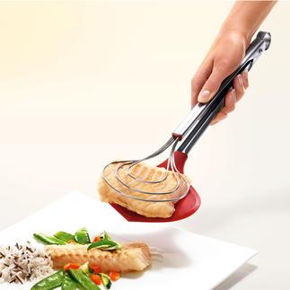 Pince XXL Enfin une pince de cuisine bien large. Préserve les aliments les plus fragiles.