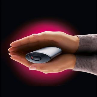 Chaufferette électrique Se range dans toutes les poches. Assez puissante comme station de charge pour téléphone portable et tablette.