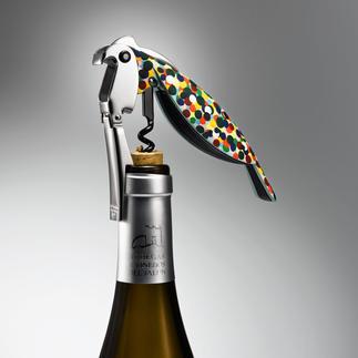 Tire-bouchon de sommelier Parrot L'outil professionnel des sommeliers - devenu œuvre d'art par le geste d'Alessi.