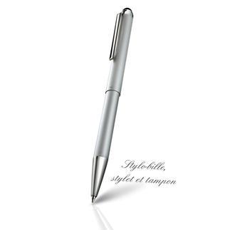 Stylet-stylo-bille avec tampon 3 en 1 : stylo-bille, stylet et tampon. Pratique autant pour une utilisation privée que professionnelle.