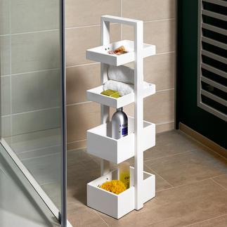 Étagère design wireworks Valet de nuit, plateau à étage ou étagère maniable avec un espace de rangement pratique.